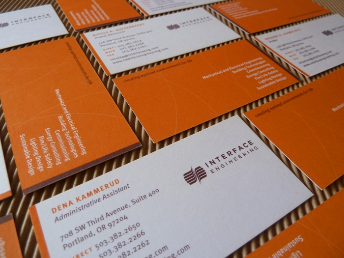 Interface Engineering business cards | Allegro Design | Portland, OR