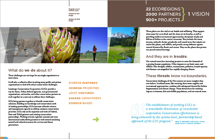 brochure design for conservation nonprofit  | Allegro Design | Portland, OR