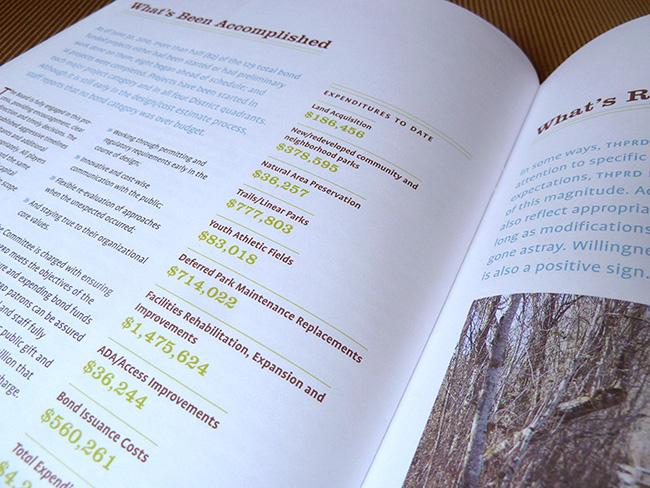 Annual report cover | Allegro Design | Portland, OR