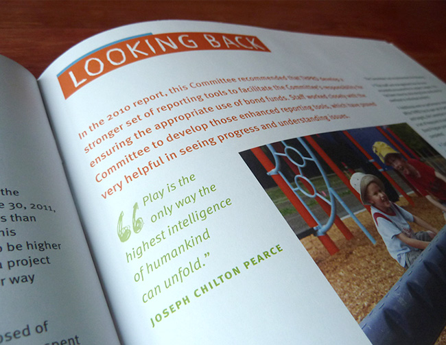 Nonprofit annual report detail | Allegro Design | Portland, OR