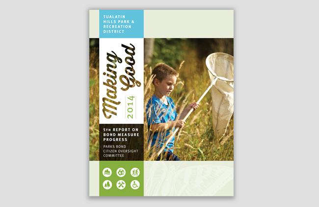 Nonprofit annual report cover | Allegro Design | Portland, OR