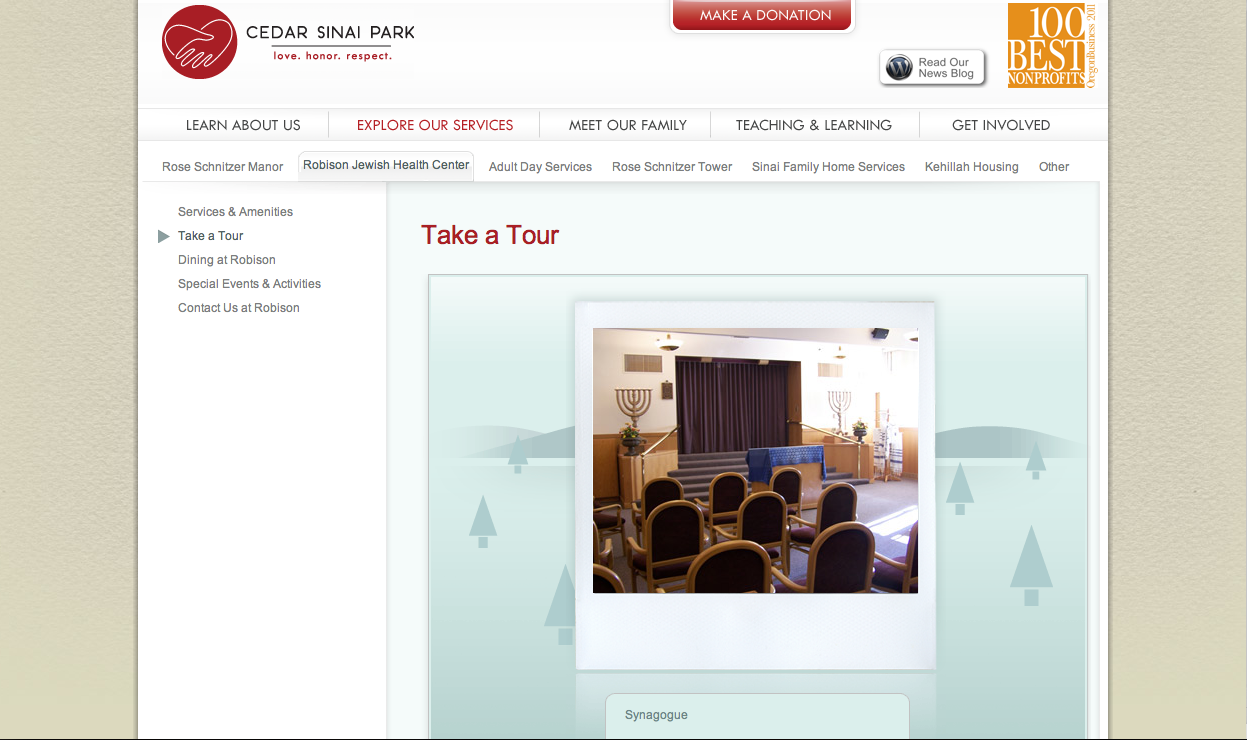Cedar Sinai Park website before