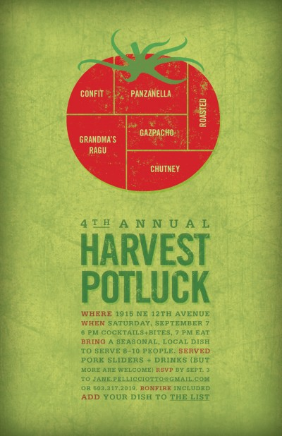 Harvest Potluck Invitation