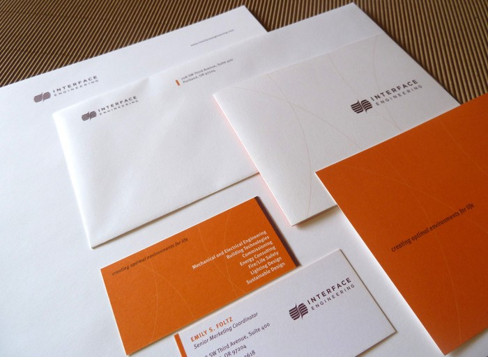 Interface Engineering letterhead package | Allegro Design | Portland, OR