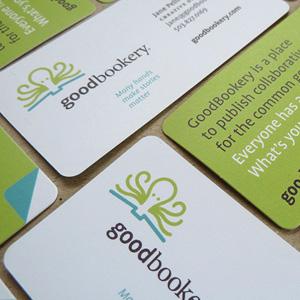 Branding for collaborative book venture. Allegro Design, Portland, OR