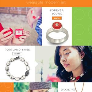 Jeweler website home page. Allegro Design, Portland, OR