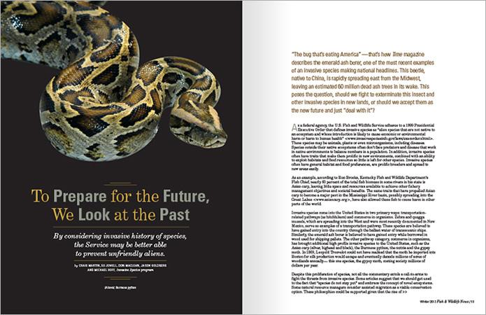 fish and wildlife magazine design  Allegro Design   Portland, OR