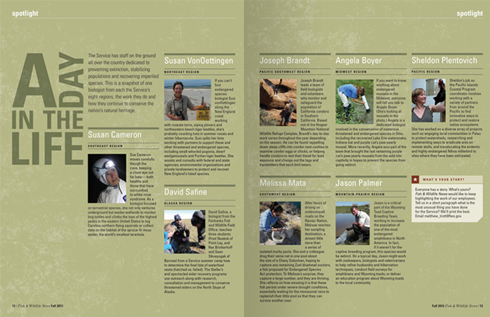 fish and wildlife magazine design |Allegro Design | Portland, OR
