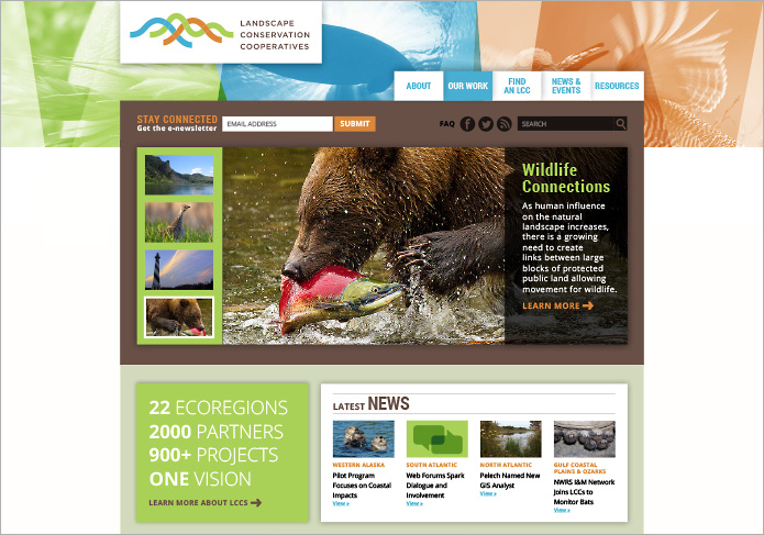 nonprofit, conservation website | Allegro Design | Portland, OR