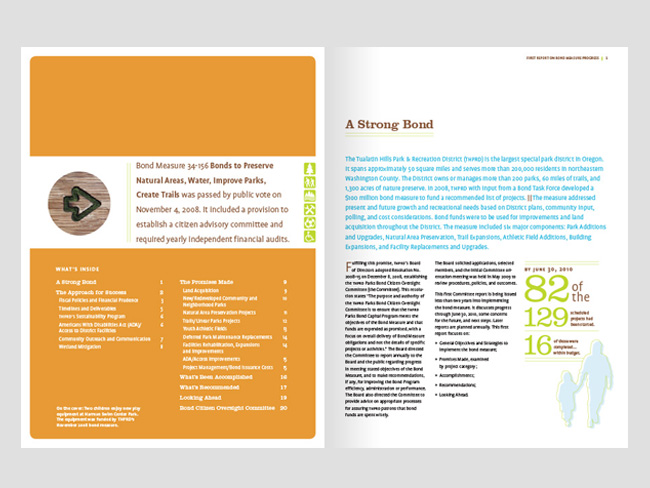 Nonprofit nnual report spread | Allegro Design | Portland, OR