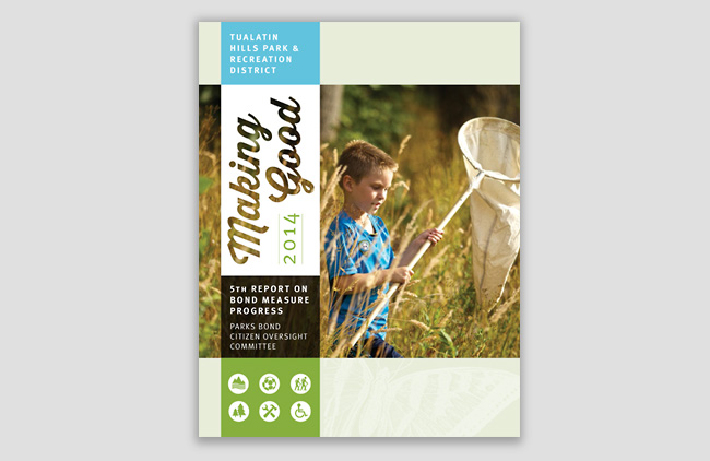 Nonprofit annual report cover | Allegro Design | Portland, OR
