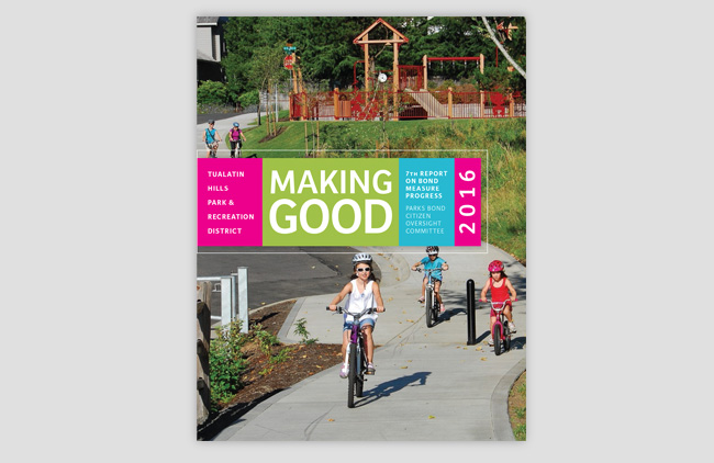 Nonprofit annual report. Oregon park district // Allegro Design
