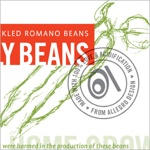 Food label design. Allegro Design, Portland, OR