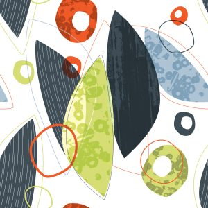 Surface pattern design. Leaves & Cells Scatter. Jane Pellicciotto/Allegro Design