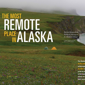 Magazine design for U.S. Fish & Wildlife Service. Allegro Design, Portland, OR